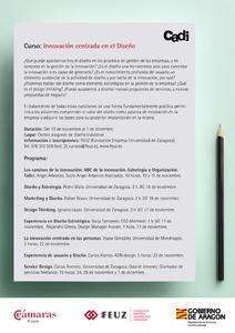 Programa del curso Innovación Centrada en el Diseño del CADI