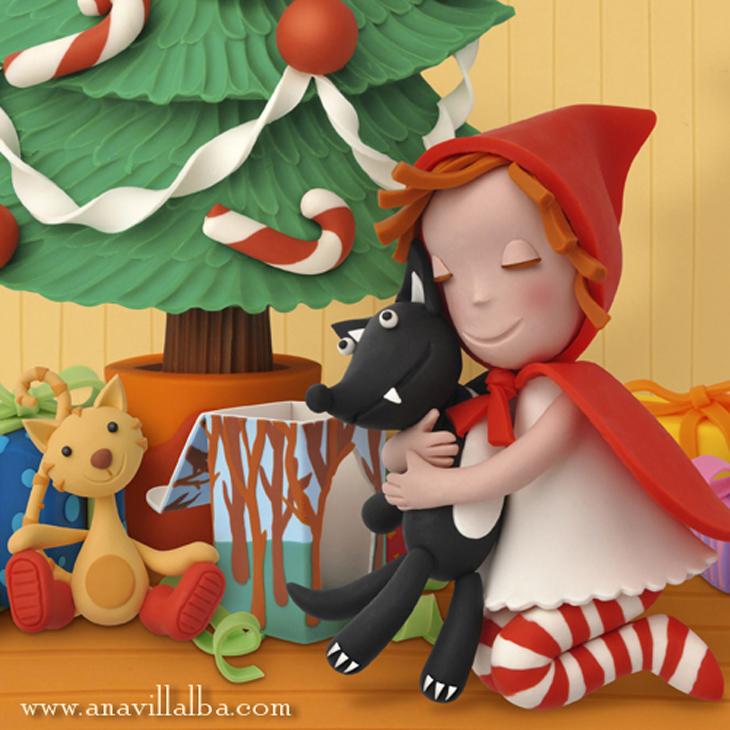 Ilustración con plastilina, clay illustration