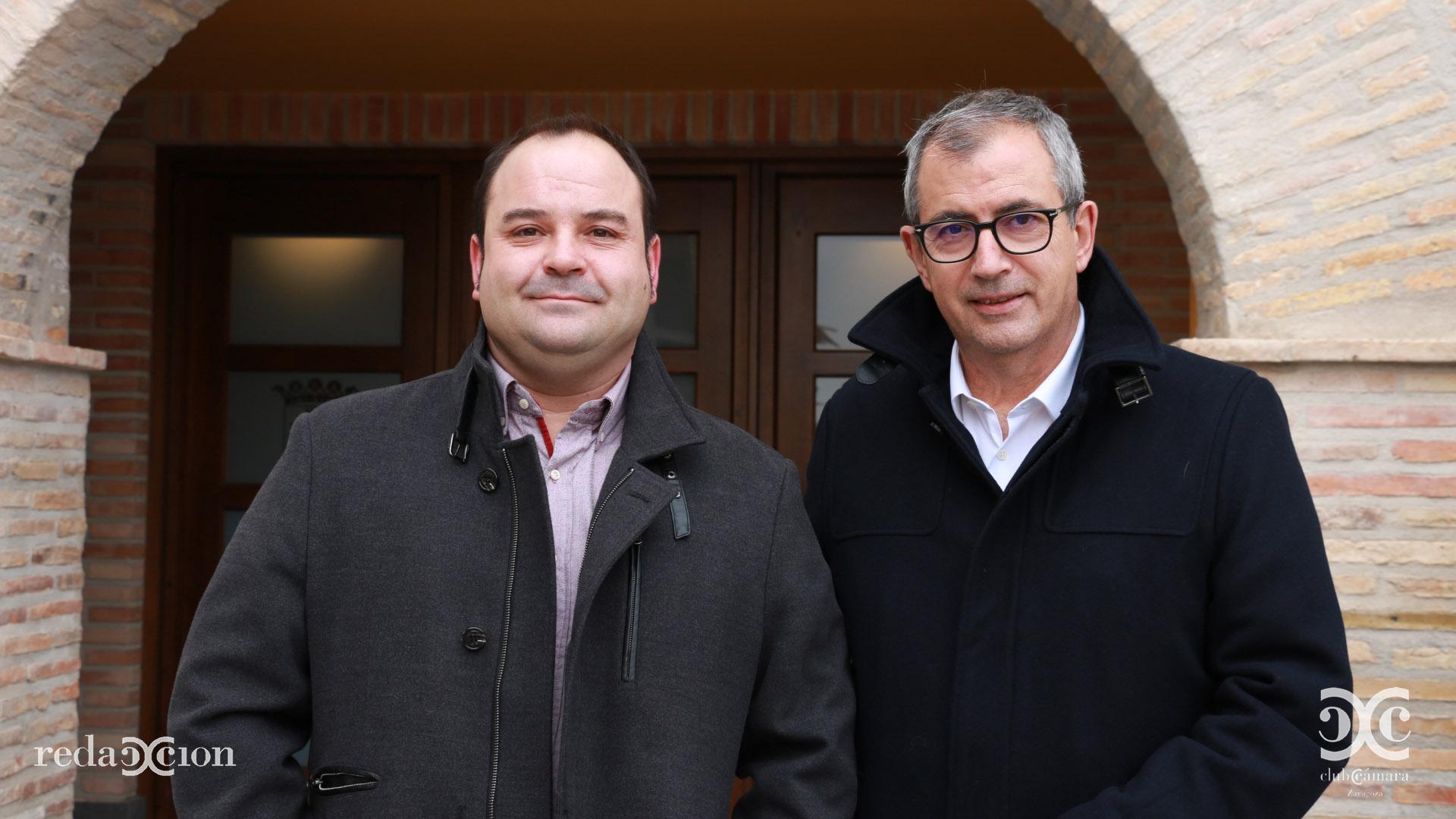 Alcalde de Magallon, junto a Director General Sociedad de la Información, Fernando García Mongay