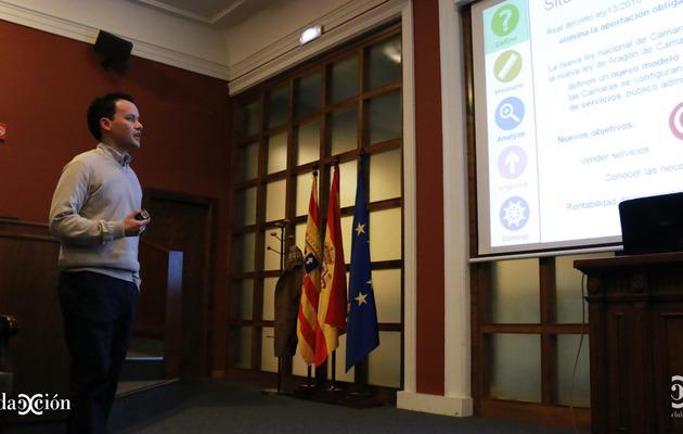 Nacho Peláez, durante su exposición.