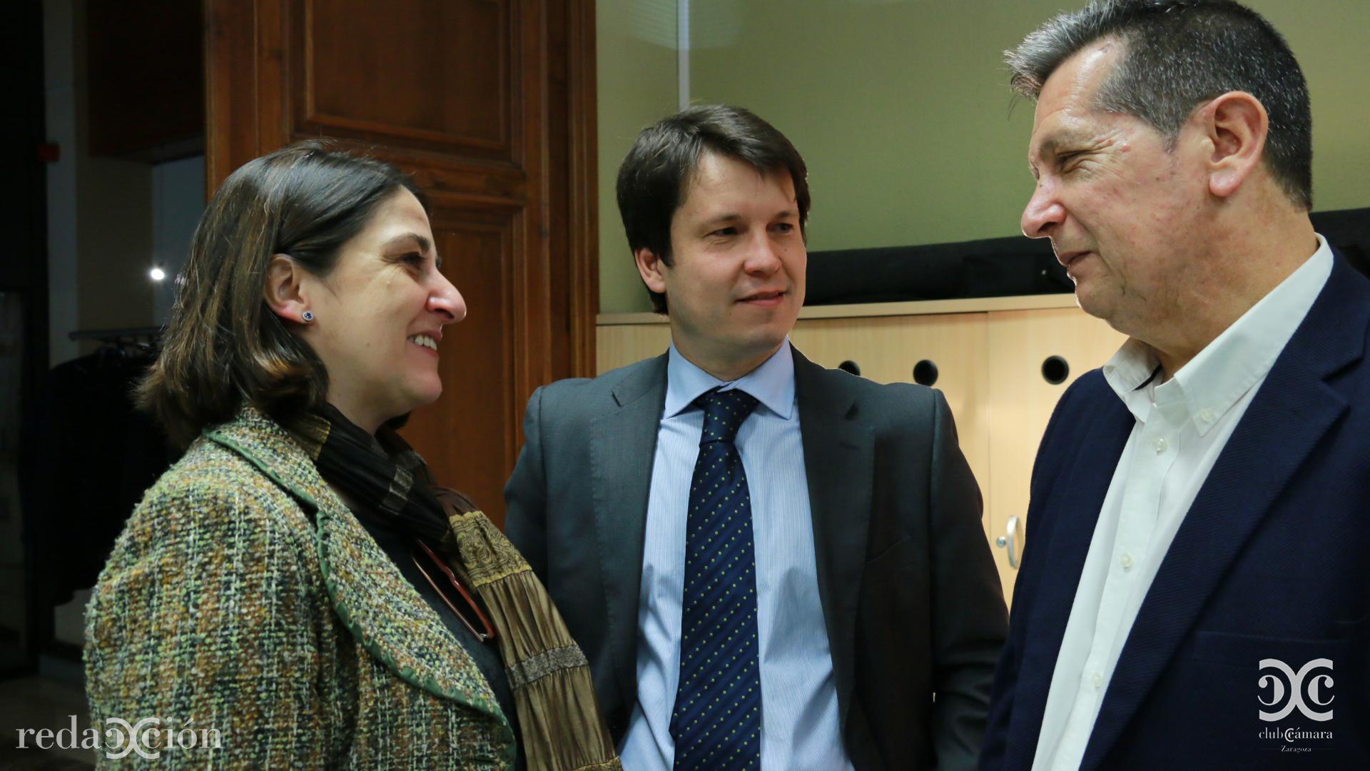 Isabel Lecina, Fernando Baquero, y Lorenzo Gómez, de Radio Zaragoza.