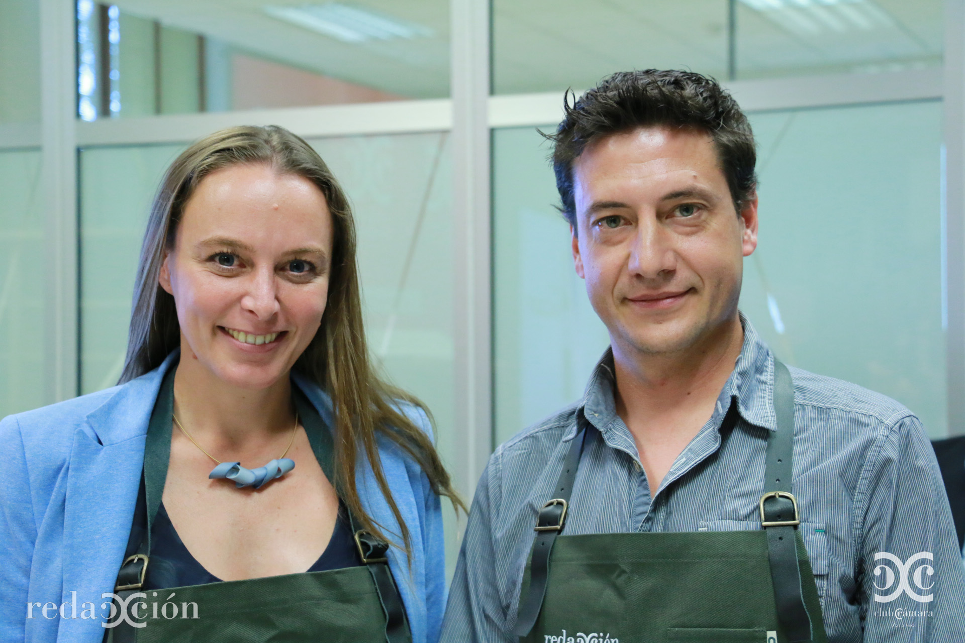 María López y Javier Mínguez, de Bitbrain.
