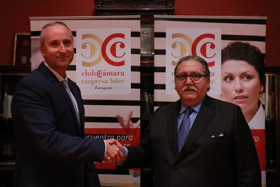 Isaac Navarro, director general de Contazara, con Manuel Teruel.