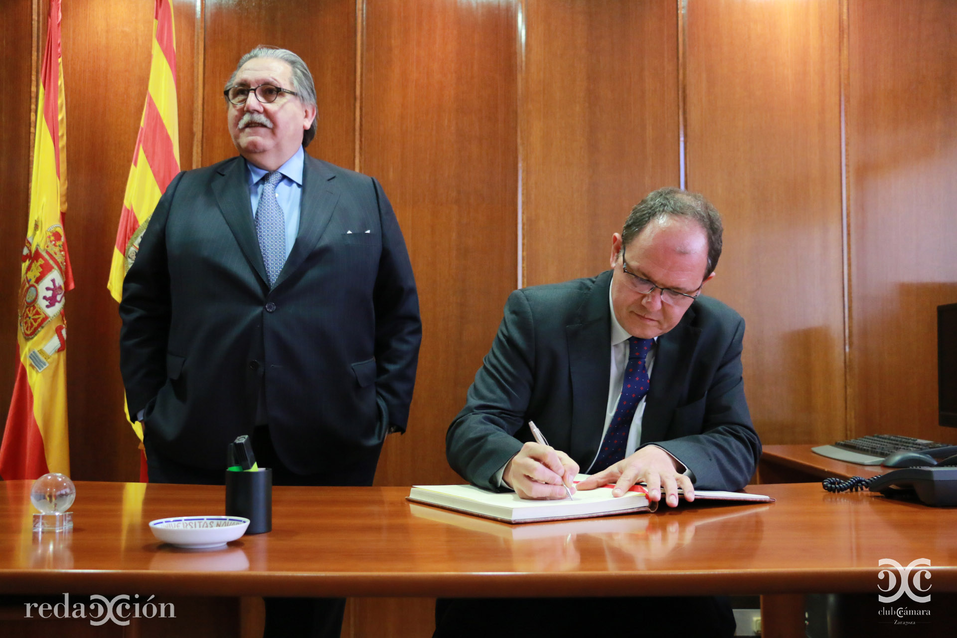 Manuel Teruel y David Vegara