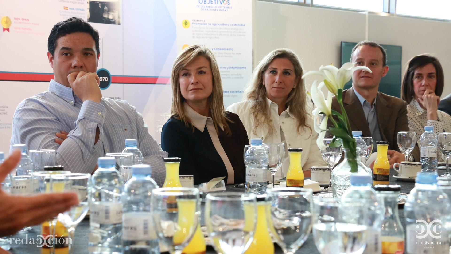 Cyril Verite, Valle García de Novales y Berta Lorente.