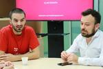 Alejandro Gil y Pedro Orihuela, del Congreso Web. Fotos: Arturo Gascón.
