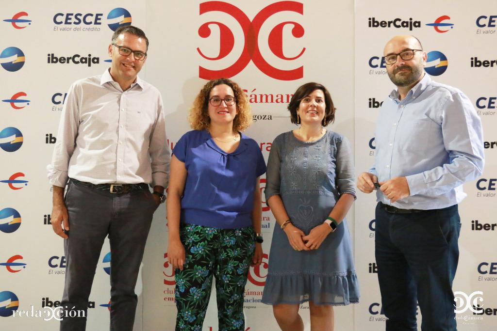 Javier Andonegui, Nila Atienza, Marta Leciñena y Ramón Añaños.