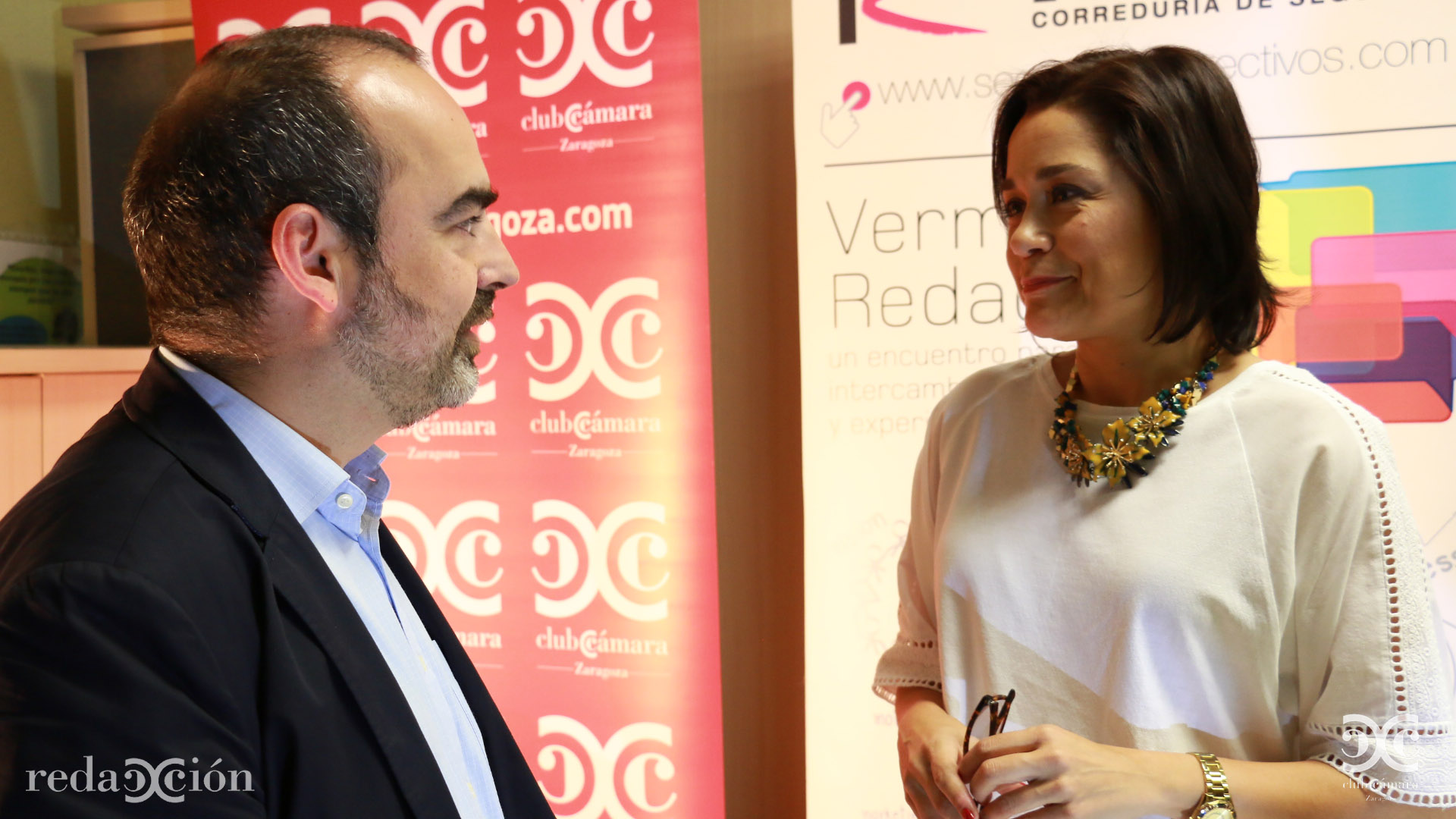 Javier Gómez, de Selenus, junto a Ana Rodríguez.