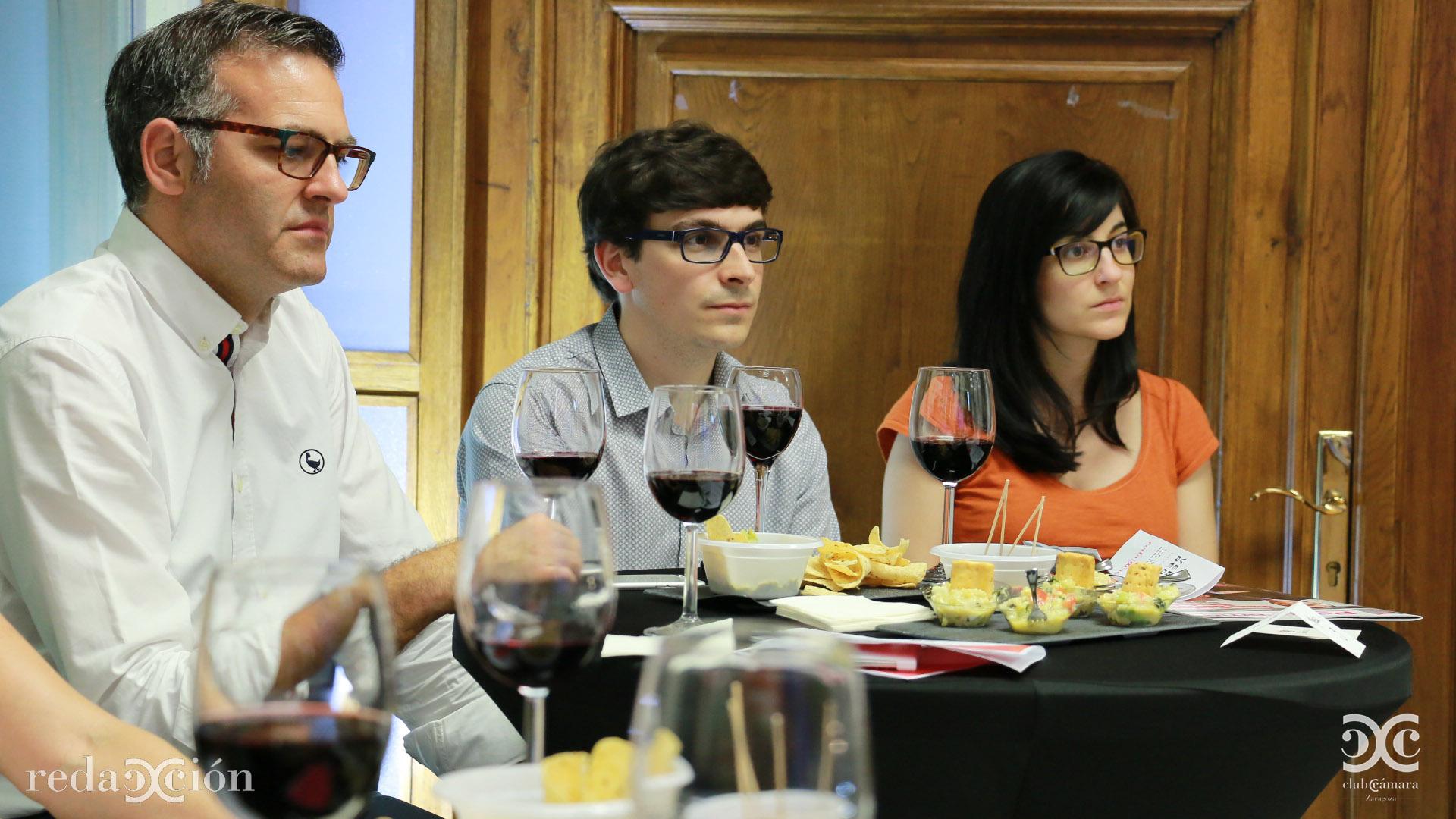 Javier Andonegui, Daniel Ponz y Carolina Marín.