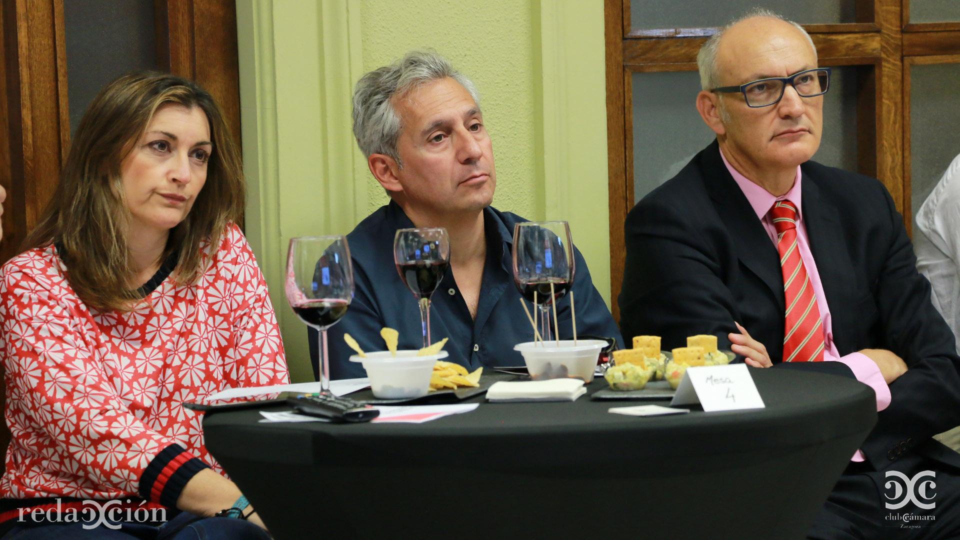 Teresa Molinero, Tomás Navarro y José Antonio Lázaro.