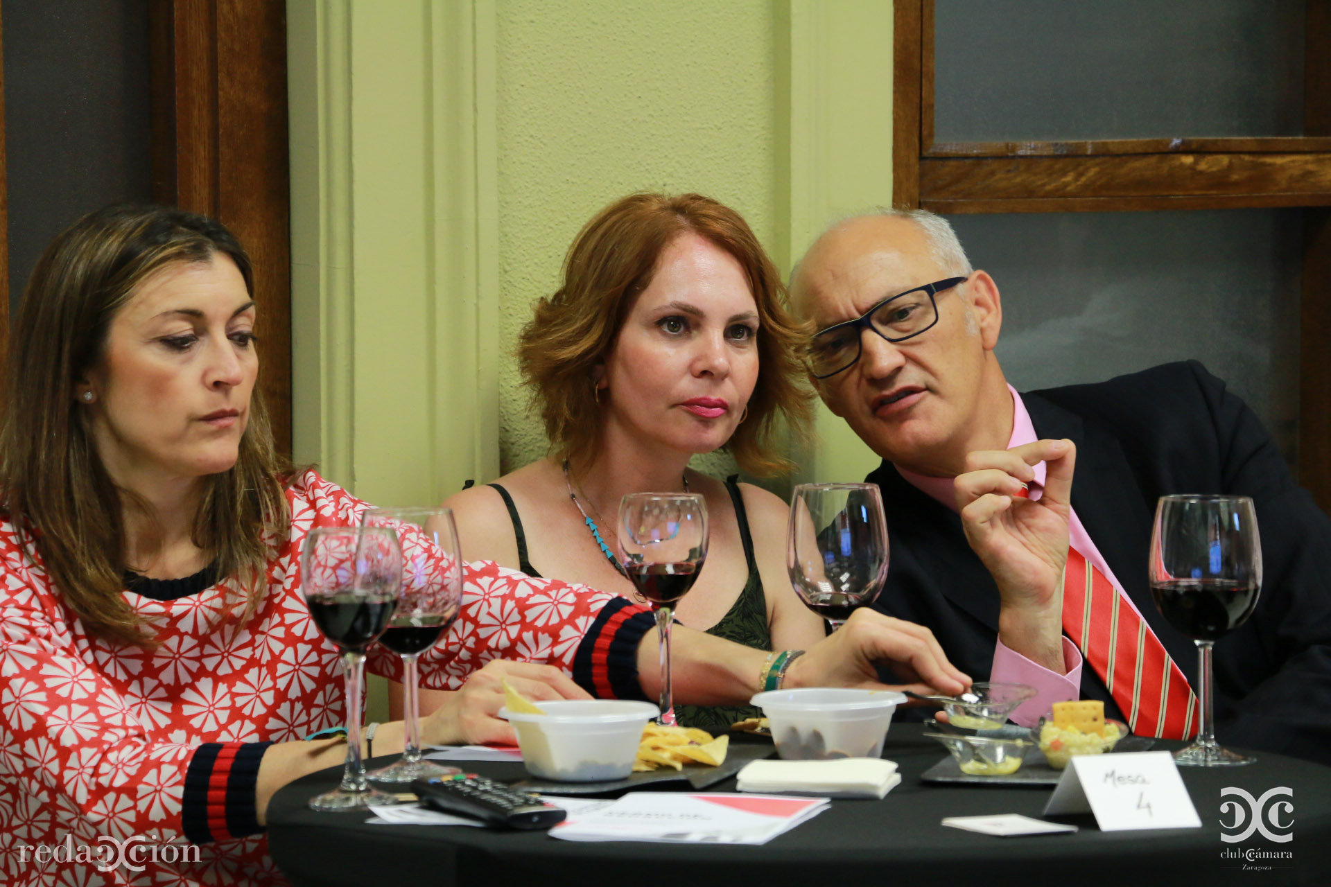 Teresa Molinero, Carmen Herrarte y José Antonio Lázaro.