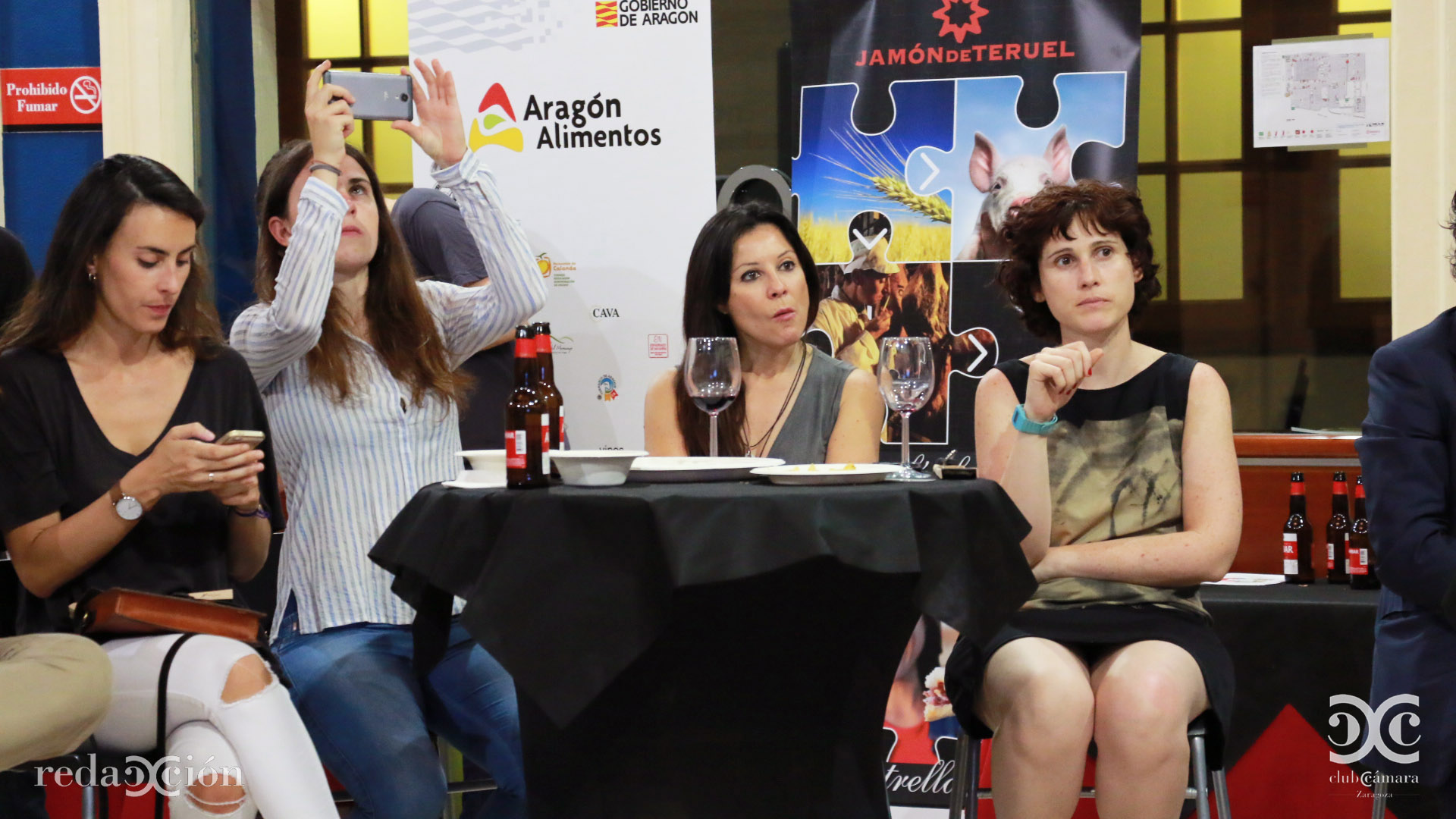 María Robles, Cristina Navarro, Ángela Medrano y Alicia de Miguel