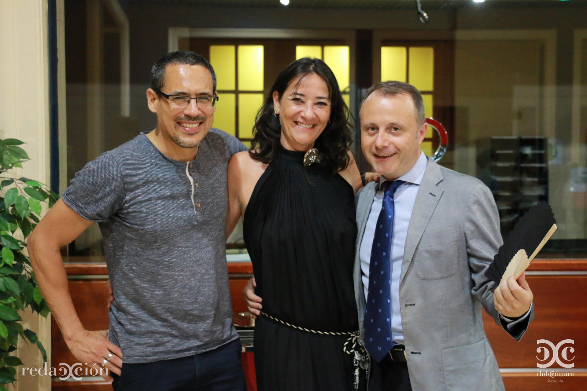 Amaury Cabrera, Ana Remírez y Carlos Martínez Soler