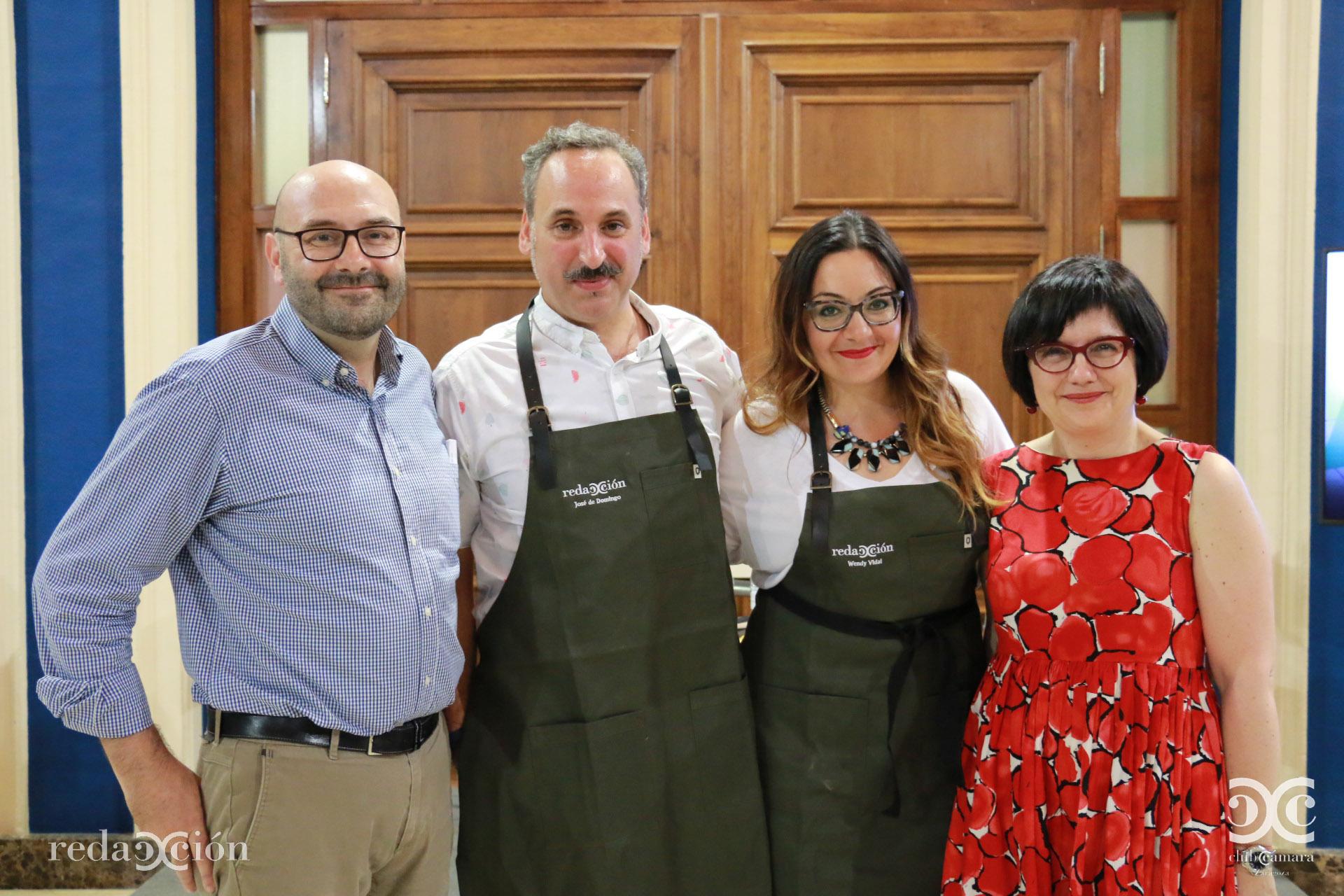 Ramón Añaños, José de Domingo, Wendy Vidal y Ana Hernández.
