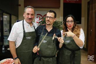 José de Domingo, Iván Morte y Wendy Vidal.
