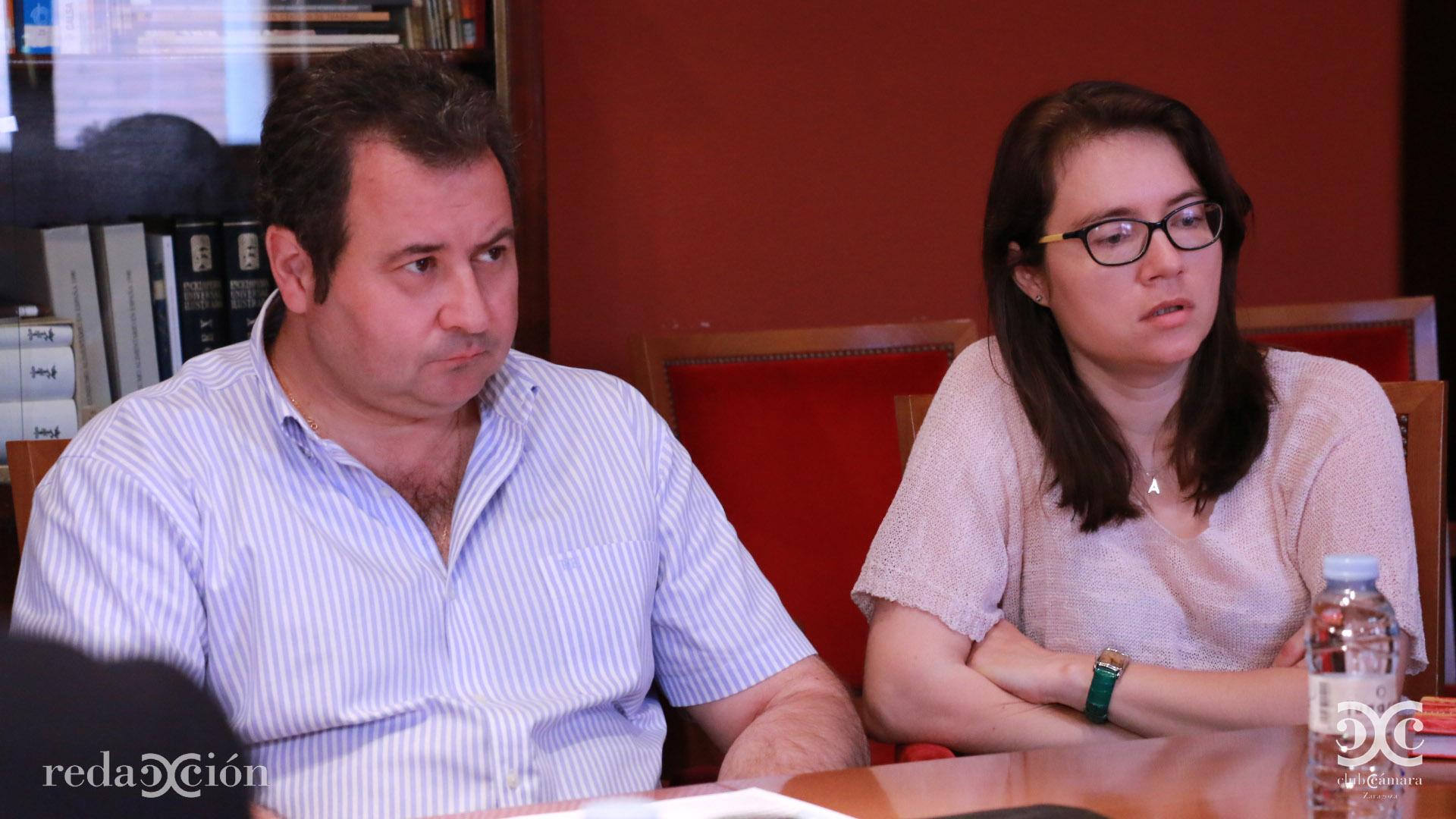 Ignacio Giménez (Ebroacero) y Gosia Chylak (Cámara Zaragoza)