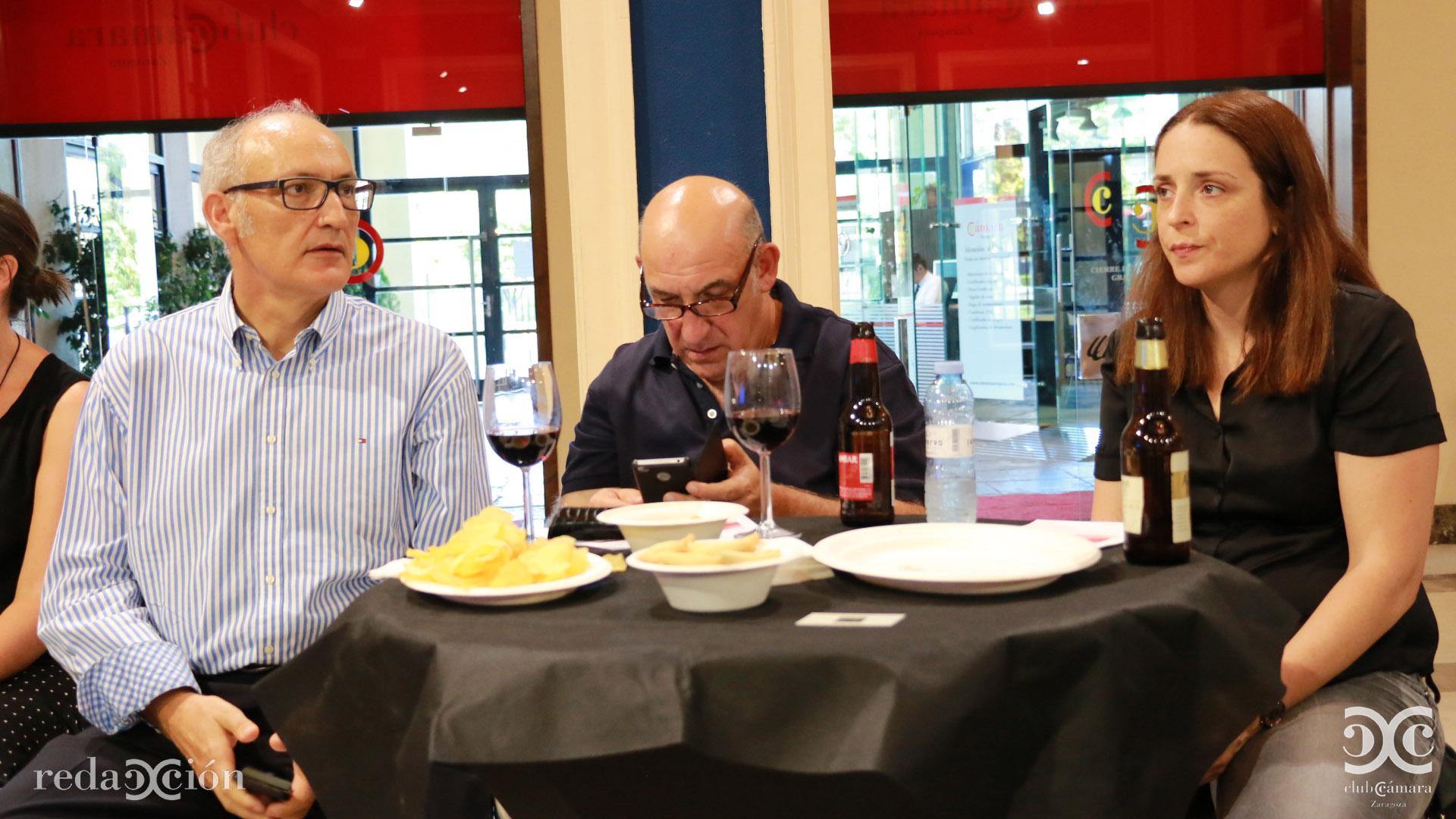 José Antonio Lázaro, Agustín Sancho y Esther Fuertes