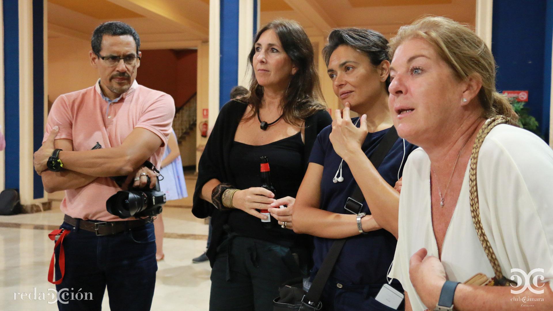 Amaury Cabrera, Eva del Ruste, Eugenia Aragonés y Olga Pueyo.