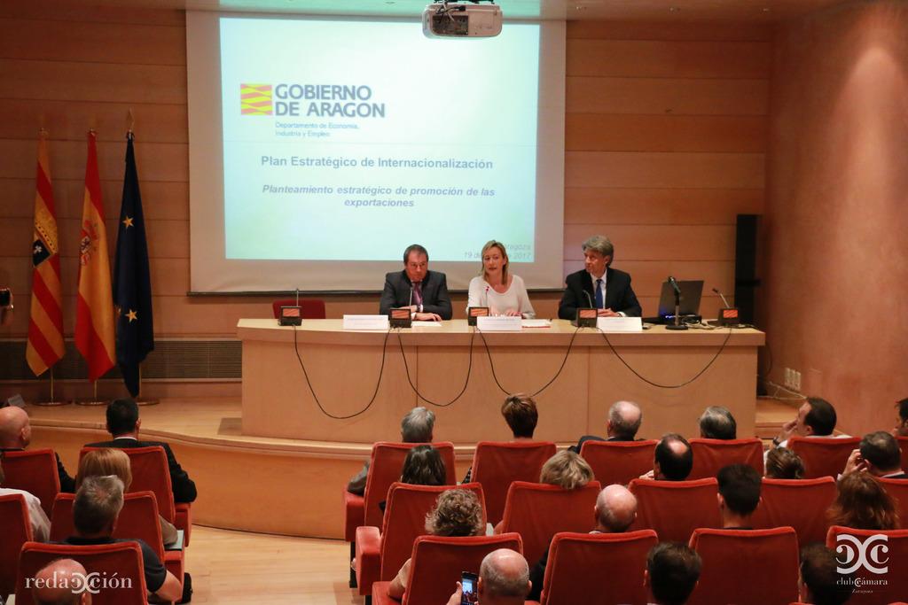 Presentación del Plan Estratégico de Internacionalización de Aragón. Fotos: Arturo Gascón.