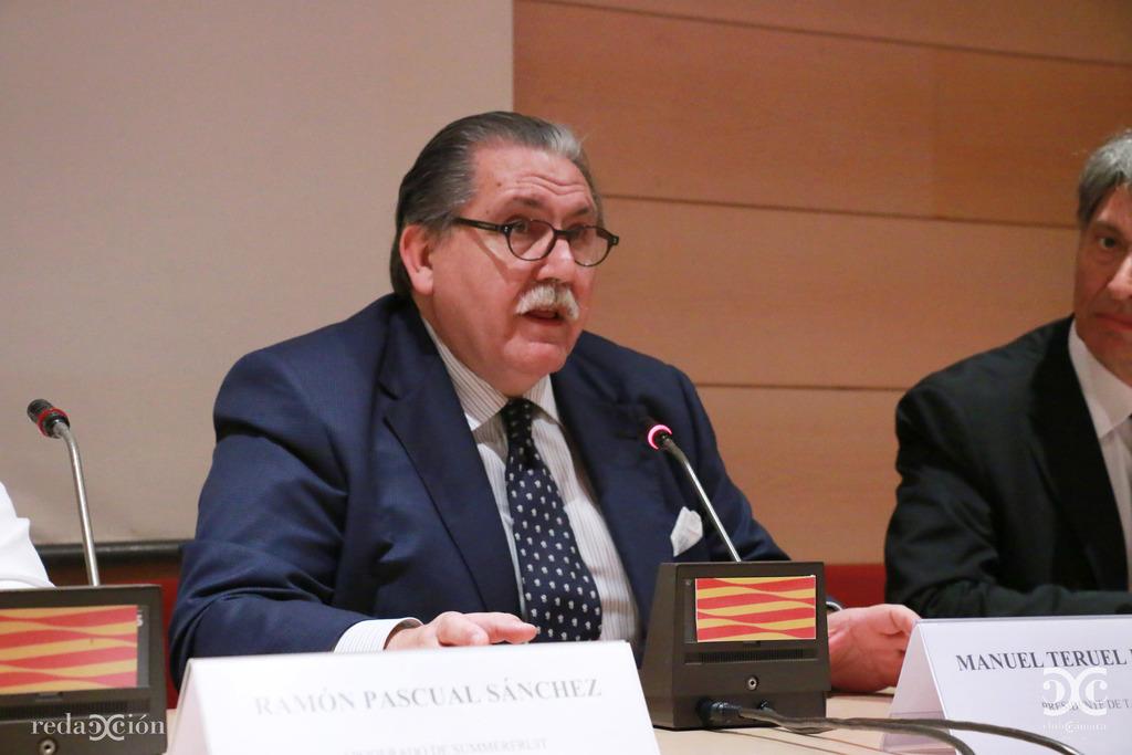 Manuel Teruel, durante su intervención en el acto.