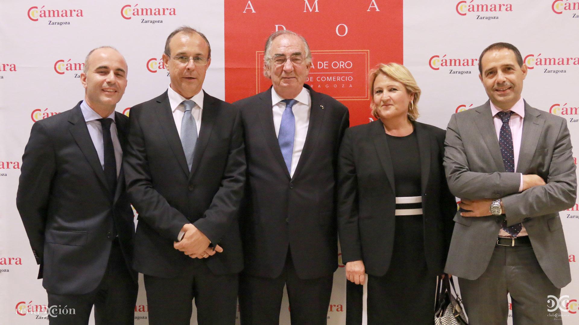 David Herrando, Antonio Lacoma, Amado Franco, Teresa Ruiz y Jesús Ros
