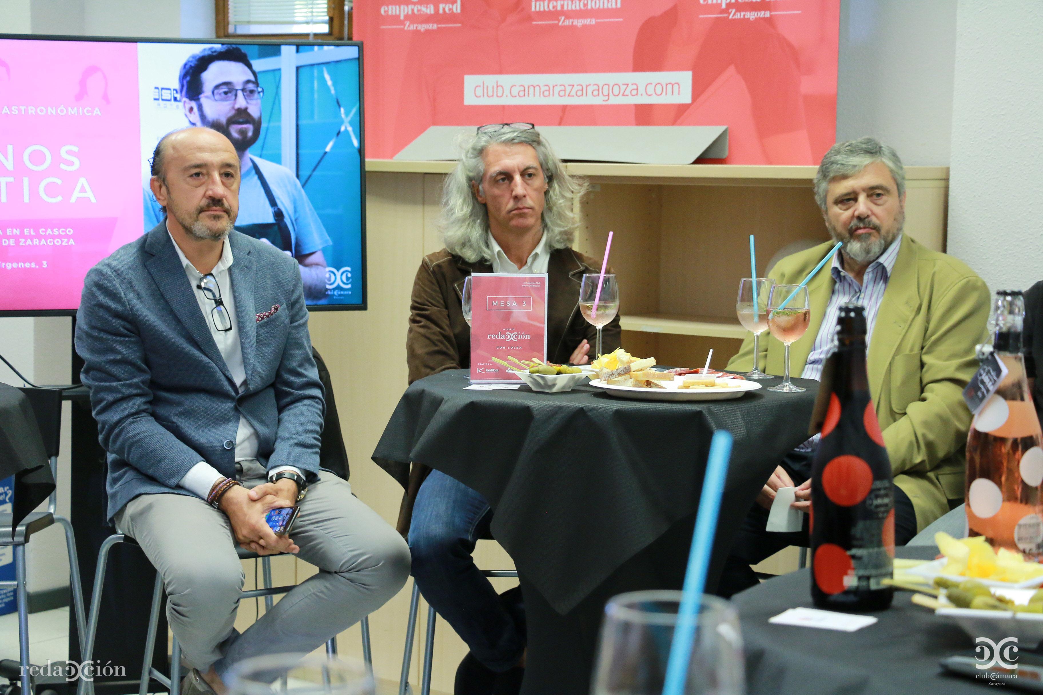José María Baqué, Rafael Clarimón y Juan Manuel Ubiergo