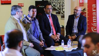 Juan Manuel Ubiergo, Armando Mateos, Daniel Álvarez y Ramón Añaños. Fotos: Arturo Gascón.