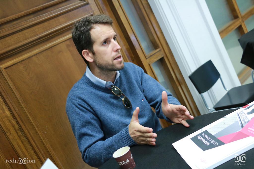 Juan Martínez, de Necaser, en su visita a Redacción Club.