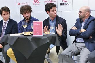Fernando Baquero, Toño Escartín, Carlos Larraz y Ramón Añaños. Fotos: Arturo Gascón.