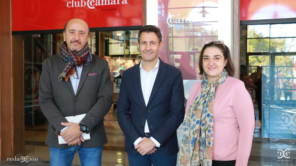 José María Baqué, Javier Eslava e Isabel Lecina.