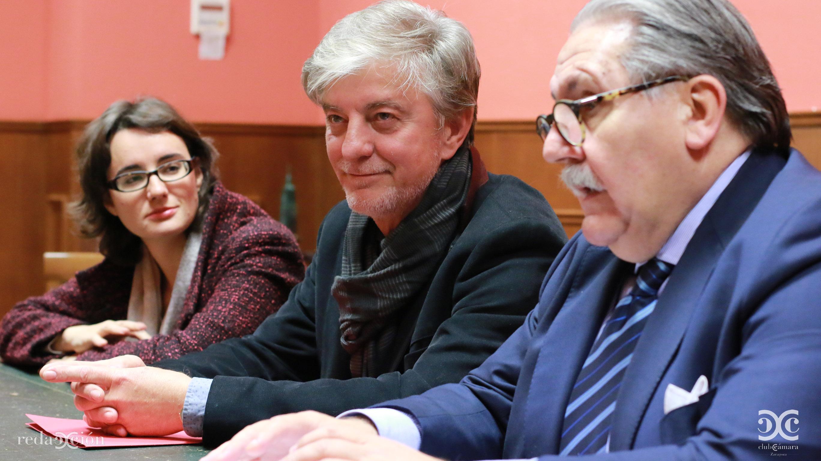 Mercedes Vidal, Pedro Santisteve y Manuel Teruel.
