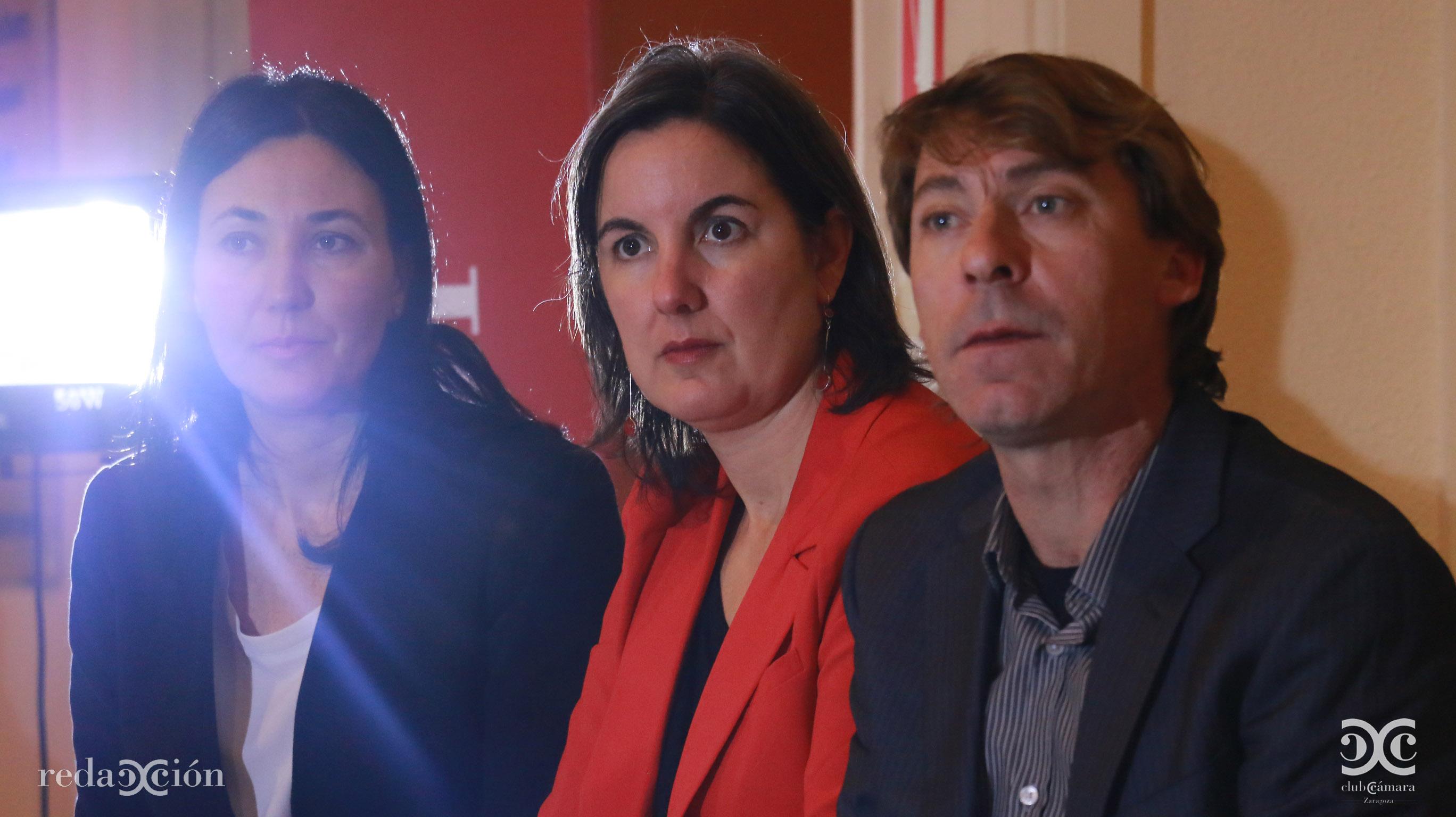 Maite Lou, Ruth Lázaro y Alberto Asensio
