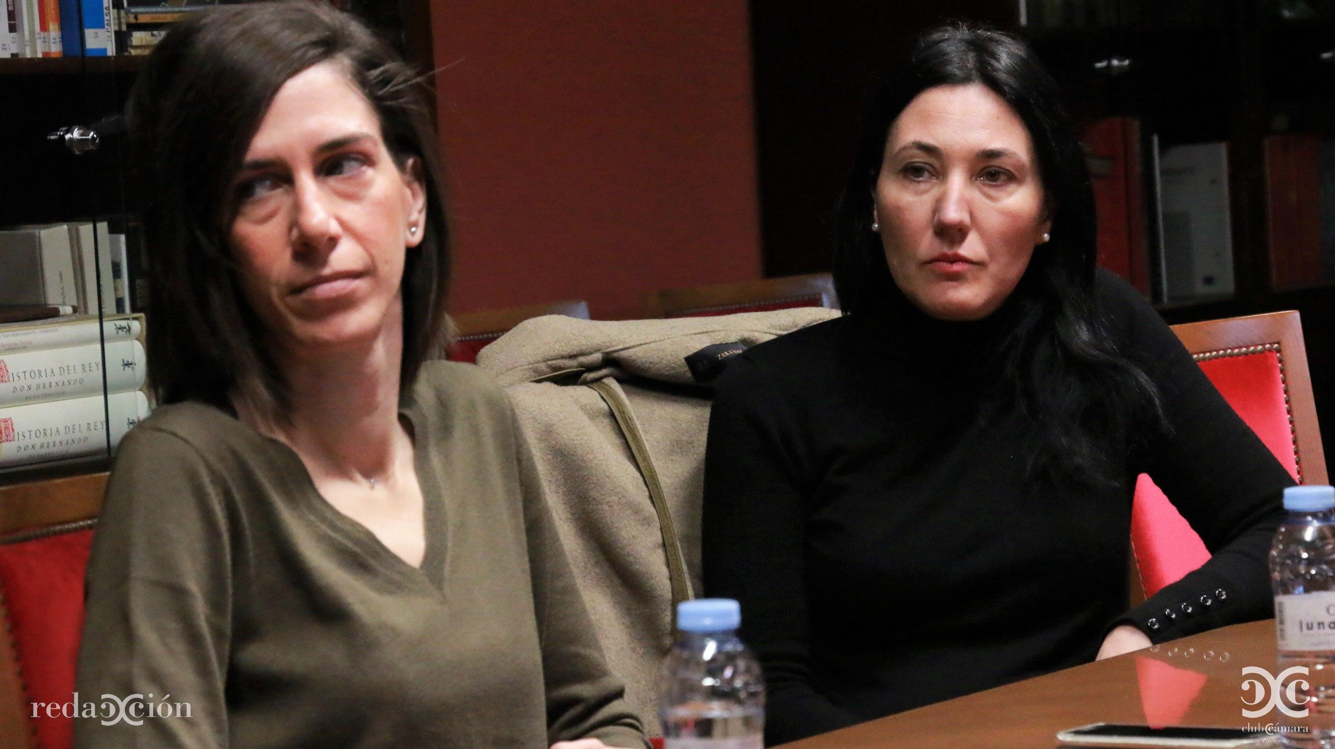 María Pérez, de Bantierra, y Maite Lou, de Aceitunas Lou.