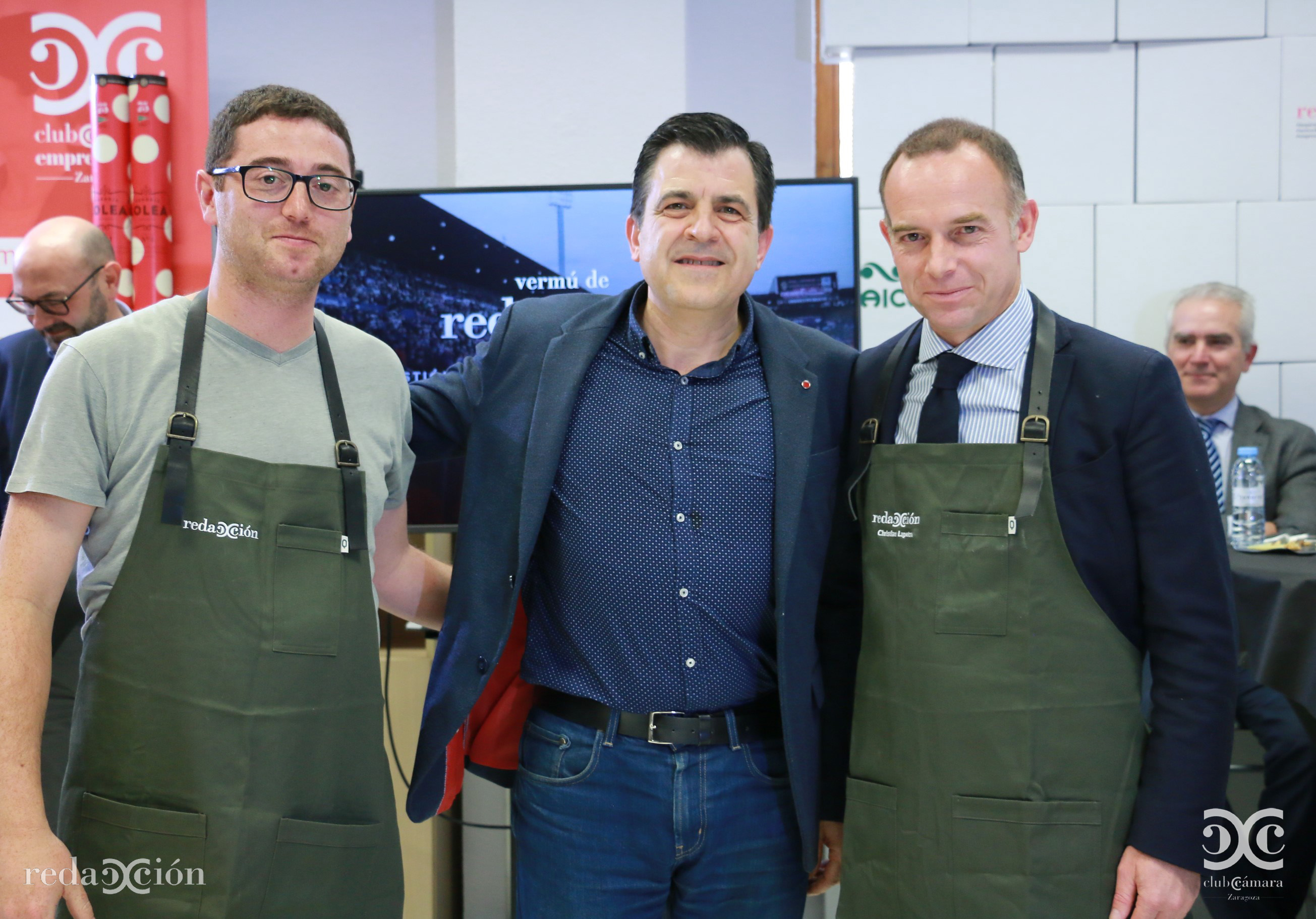 Miguel Botica, Narciso Samaniego y Christian Lapetra.