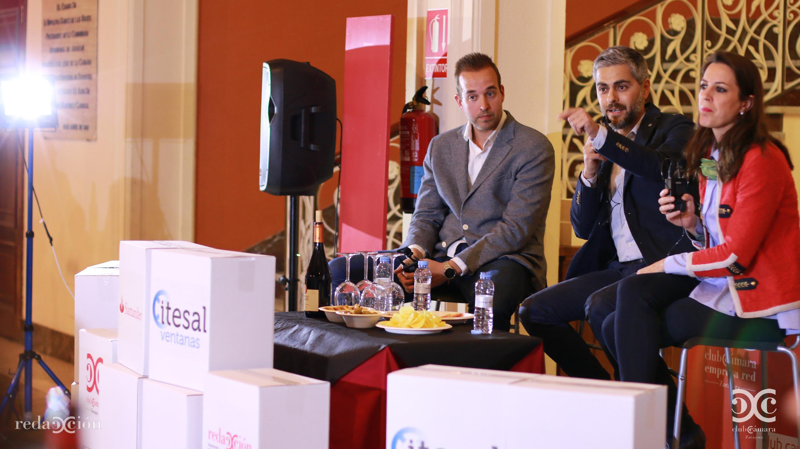 Carlos Sánchez Broto, Alberto Fantova y María Montal. Fotos: Arturo Gascón.