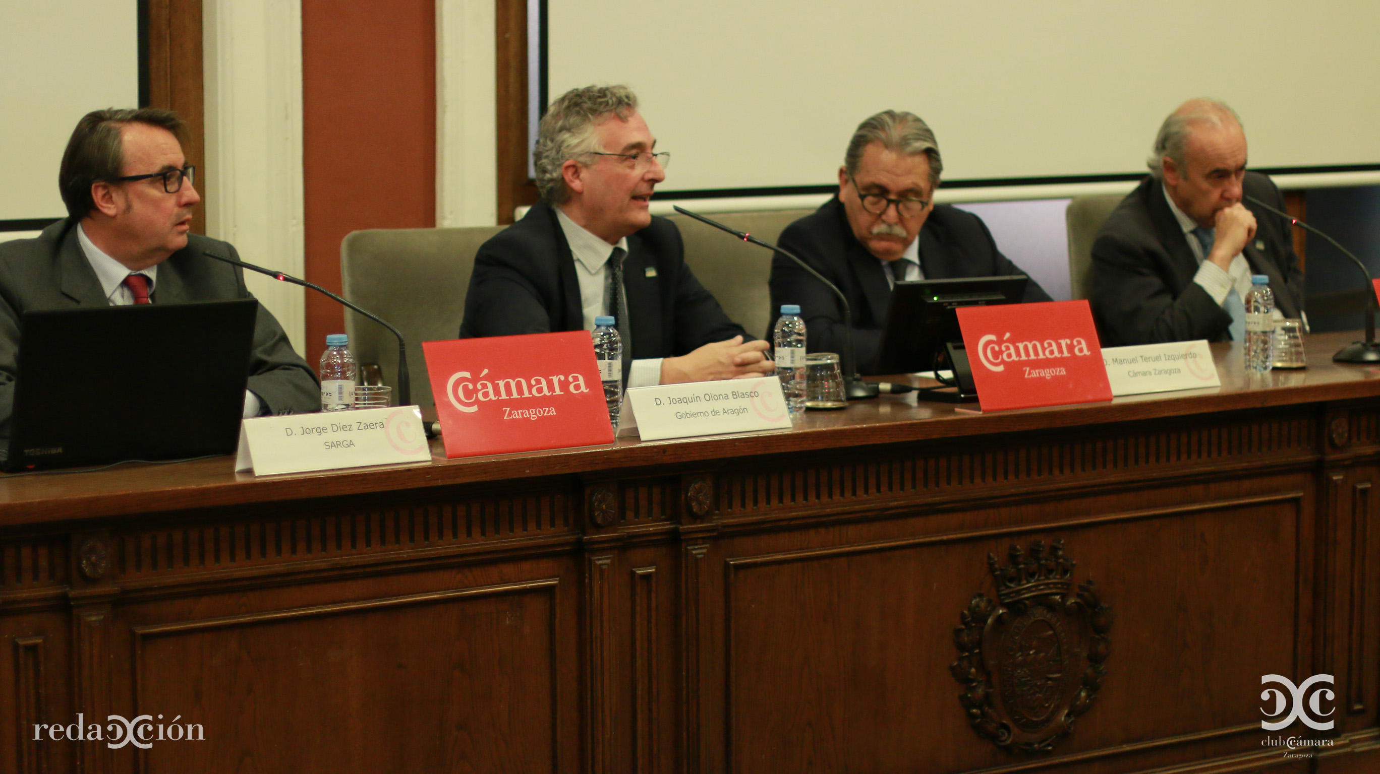 Jorge Díez, Joaquín Olona, Manuel Teruel y Alfonso Seoane. Fotos: Arturo Gascón.