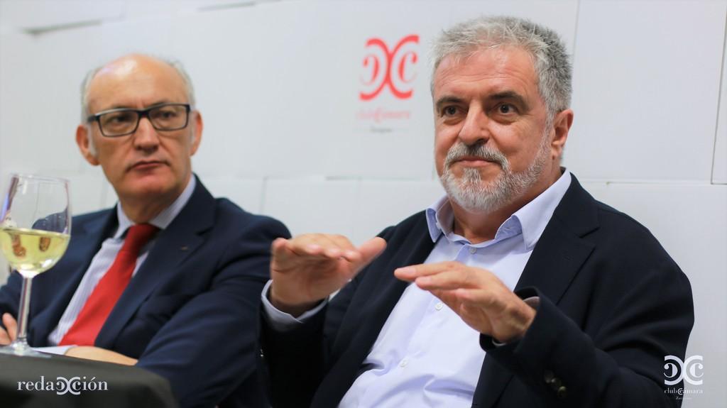 Carlos Eres, junto a José Antonio Lázaro. Fotos: Arturo Gascón.