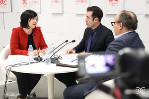 Vanessa Iglesias, Miguel Ángel Martínez, Jesús Fernández.