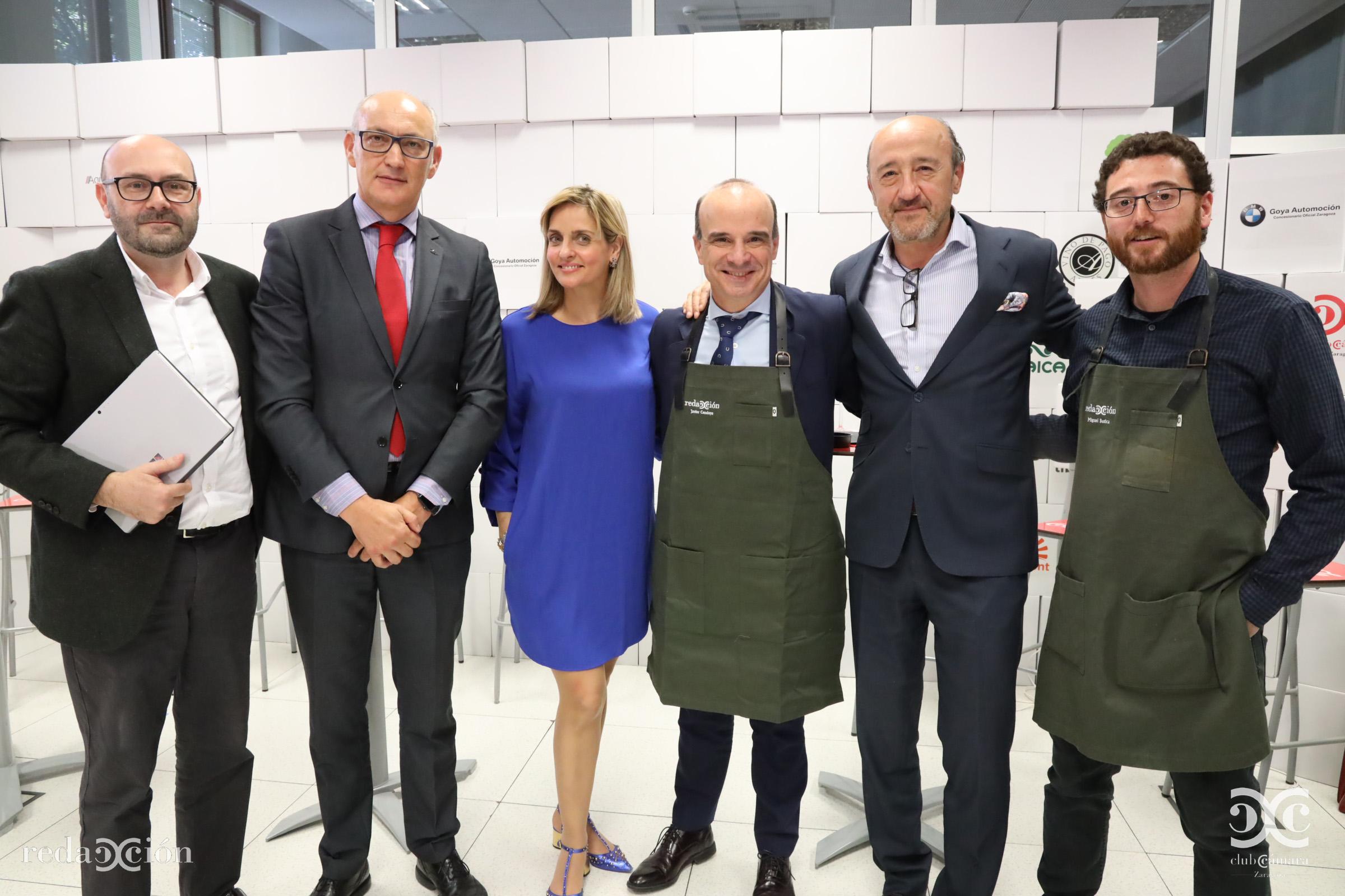 Ramón Añaños, José Antonio Lázaro, Mónica Manero, Javier Cendoya, Chema Baqué, Miguel Botica